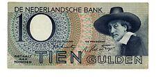 """Netherlands ... P-59 ... 10 Gulden ... 1943 ... *VF-XF* ... Prefix """"3BD"""""""