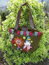 Handbag Craft Bags Ethnic Handmade Fair Trade Felt Butterfly Flower Pig Hand Bag