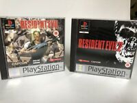 X 2 Resident Evil 1 & 2 Bundle Sony Ps1 Very Good Controller : Platinum