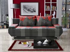 BRAND NEW FABRIC SOFA BED NICOLE WITH BEAUTIFULLY DESIGNED PILLOWS