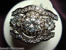 3pcs Vintage Style 2.91ctw CZ Engagement Wedding Ring set 10K solid w/Gold size6