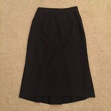 ELIE TAHARI 100% wool brown pencil skirt w pleated back US 2 / UK 6 Immac £250