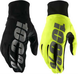 100% Hydromatic Waterproof Gloves Cold Weather MTB Mountain Bike MX Motocross