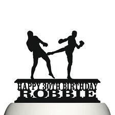 Personalised Acrylic Kickboxing Martial Arts Birthday Cake Topper & Keepsake