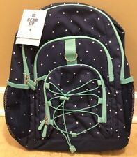baf09b047f NEW Pottery Barn Teen Gear-Up PIN DOT Backpack NAVY + POOL   issue
