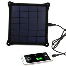 Outdoor 5V 5W Portable Solar Panel Power Bank Pack USB External Battery Charger