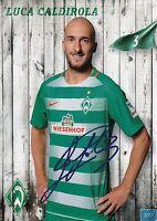 Luca Caldirola (3) + Werder Bremen + Saison 2016/2017 + Autogrammkarte +