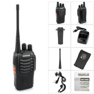 BaoFeng Walkie Talkie 5W Ultra-long Standby Dual Band Two-Way Radios +Interphone