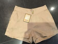 NWT Juicy Couture New & Gen. Ladies Small UK Size 8 U.S. 4 Beige Cotton Shorts