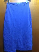 Kookai WRAP FRONT Skirt Size 2 BLUE Free Post (F17) STRETCHY PENCIL WORK WOMENS