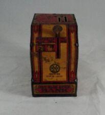 Vintage Marx Toys Tin Litho Get Rich Quick Bank Coin Bank Slot Machine