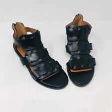Givenchy 37.5 Black Leather Gladiator Flat Sandals 2400-513-123119