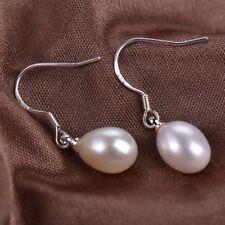 Wholesale Multicolor 7-8mm Akoya Freshwater Pearl Silver Hook Earrings Y4436