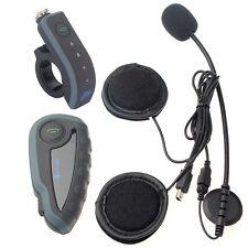 1200M Motorcycle Helmet V8 Bluetooth BT Interphone Intercom Headset+Remote+NFC