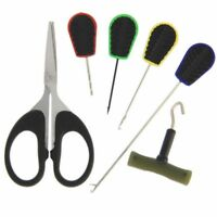 Baiting Needle Set 6 Piece Carp Fishing Tackle Braid Scissors Knot Puller NGT