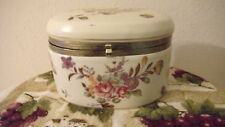 LEFTON VINTAGE RARE OVAL SHAPED PORCELAIN JAR DRESSER JEWELERY BOX