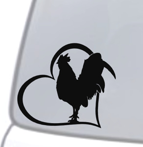 Laptops for Tumblers WickedGoodz Rooster Vinyl Sticker Decal Car Windows Rooster Hen Poultry Sticker Funny Farm Sticker