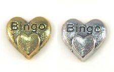 Floating Charms Mini Charm Living Memory Locket Hearts Gold Silver Bingo 9mm