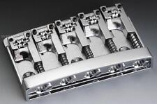 Schaller 3D-5 CH 5-String Bass Bridge, With Roller Saddles, CHROME