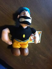 "Popeye Stuffins 1999 Plush Brutus 8"" With Tags"