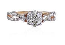 Pave 0.71 Cts Round Brilliant Cut Diamonds Anniversary Ring In 750 Fine 18K Gold