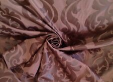 19 Metres Quality Chocolate Medallion Damask Faux Silk Curtain & Interior Fabric