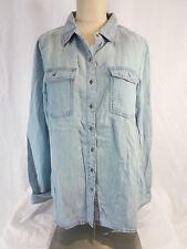 Buffalo David Bitton Womens Long Sleeve Button Shirt Light Blue US Size L NWT