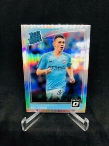 GORGEOUS 2018-19 PHIL FODEN Optic Holo 'Rated Rookie' Refractor #179 - MAN CITY!