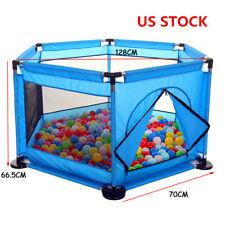 Us 50in Cartoon Kids Playpen Fence Playpen Baby Safety Pool Game Toddler