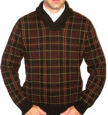 Ralph Lauren Golf Scottish Plaid Christmas Merino Wool Sweater - Size Large