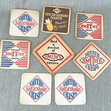 Vintage Smiths Crisps Beermats Beer Mats Salt n Shake 60s 70s Job Lot x 8