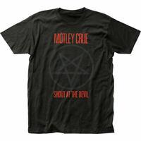 Motley Crue Shout At The Devil T Shirt Mens Licensed Rock N Roll Retro Tee Black