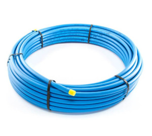 20/25 & 32mm MDPE Blue Alkathene Water Pipe Choice Lengths Supplied 1M-100M