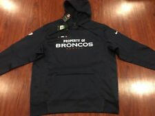 Nike Men s Denver Broncos Property Of Therma Fit Hoodie Sweatshirt XL NFL 0860bd85f