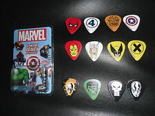 Complete Set 12 PEAVEY Picks Marvel Superheroes Classic Plettri Spider-Man X-Men
