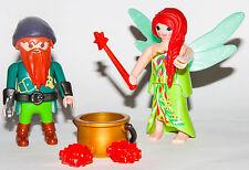 Playmobil 6842 Elf and Dwarf Elfo y Enano Fairy princess pirate queen wand beard
