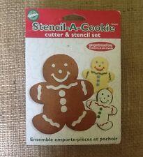Wilton Gingerbread Boy Stencil-A-Cookie™ Cutter And Stencil Set