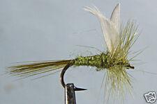 1x Mouche Sèche Subimago Olive H14/16/18 truite mosca fly