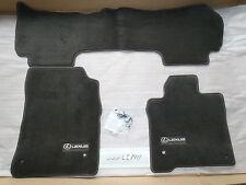 FLOOR MATS 3 piece LEXUS LX570 LX-570 GREY 08-11 FRONT REAR MAT OEM NICE SET