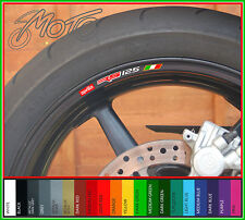 8 x Aprilia RS 125 Wheel Rim Decals Stickers - rs125 (O)
