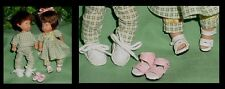 Doll Shoes, 23mm WHITE Baby Walkers / Sporty Shoes fit Kish Ellery, Tamsen