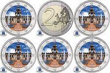 Deutschland 5 x 2 Euro Münzen 2016 Dresdner Zwinger Satz Mzz  A D F G J in Farbe