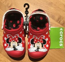 Creative Crocs Kids Minnie™ Fuzz Lined Pepper Clogs Size c10/11 NWT