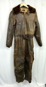WWII US Navy CNF24 Pilots Leather Flight Suit