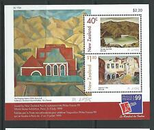 NEW ZEALAND 1999 PHILEXFRANCE '99 NZ ART MINIATURE SHEET UNMOUNTED MINT, MNH