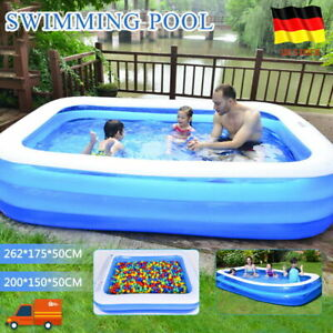 Planschbecken Aufblasbar Schwimmbecken Familien Pool Kinderpool Gartenpool DHL