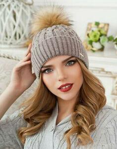 NEU!!!! Strickmütze Damen, Bommel aus Kunstfell, warm, verschiedene Farben