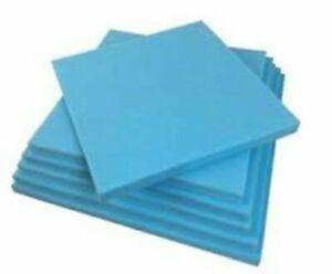 50 x 20'' High Density Blue Foam Sheet Cut to Size - Replacement Cushion Seat UK