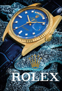 Watch Time Clock ROLEX  OYSTER PERPETUAL Art Poster Print