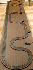 "70+pc. 35' TOMY AFX HO Slot Car Race Track Starter Layout 2X POWER +12"" Curves!"